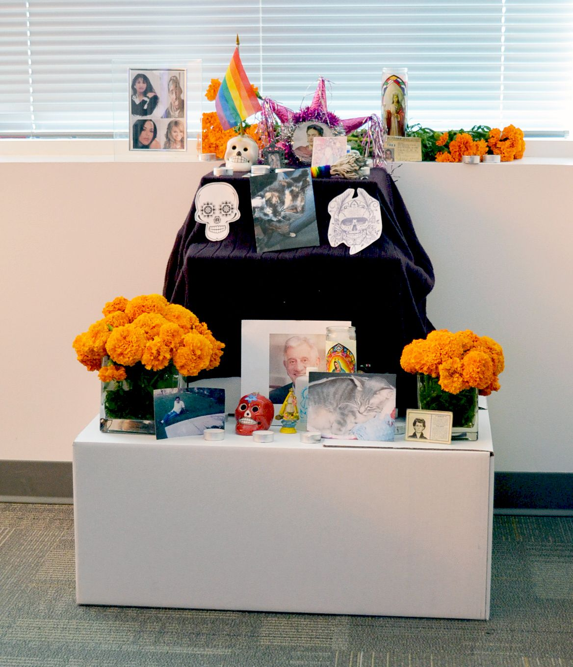 Day of the dead alter by students from chicano studies 102