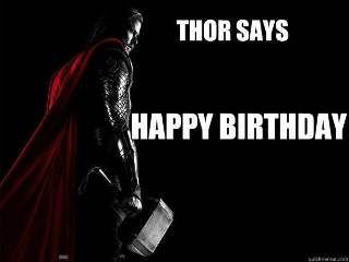 Thor Birthday Funny Happy Birthday Meme Well Hello Pinterest
