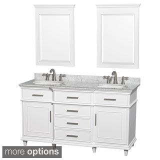 54 inch bathroom vanity double sink. Shop for Wyndham Collection Berkeley White 60 inch Double Vanity  Get free delivery at