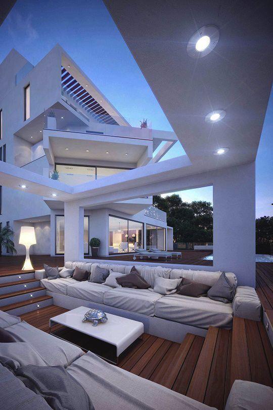 Exterior Extraordinary Luxury Modern Home Interiors. House Exterior ...