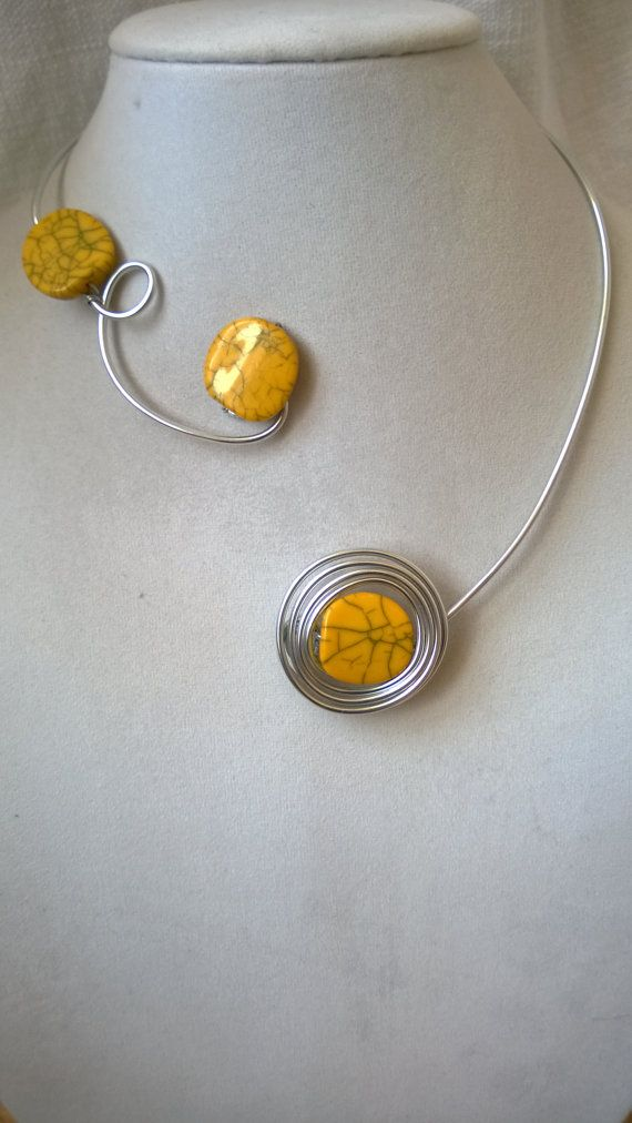 SALE JEWELRY Wire wrap necklace Stylish by LesBijouxLibellule ...