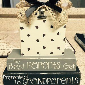 The Best Parents Get Promoted To Grandparents Photo Clip | Etsy #grandparentphoto