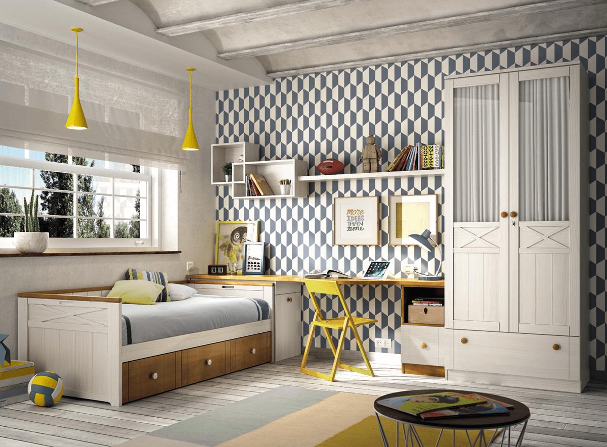 Muebles dormitorios juveniles rústicos – Muebles Intermobel®