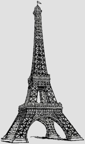Forkids Eiffel Tower Painting Clip Art Vintage Eiffel Tower