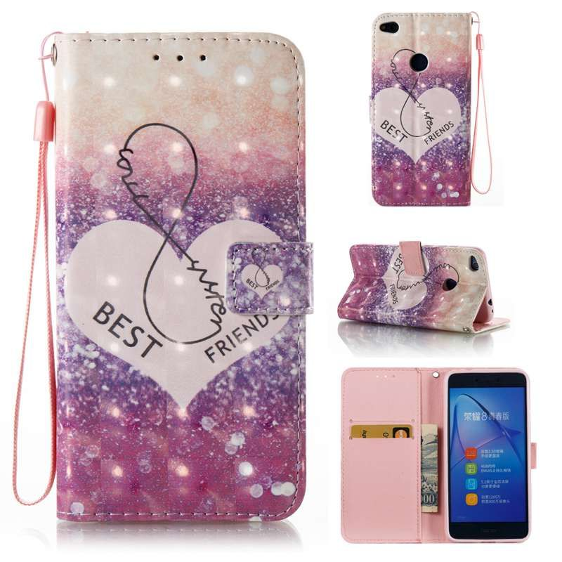 Premium Leather Flip Cover Huawei P8 Lite 2017 Wallet Case For