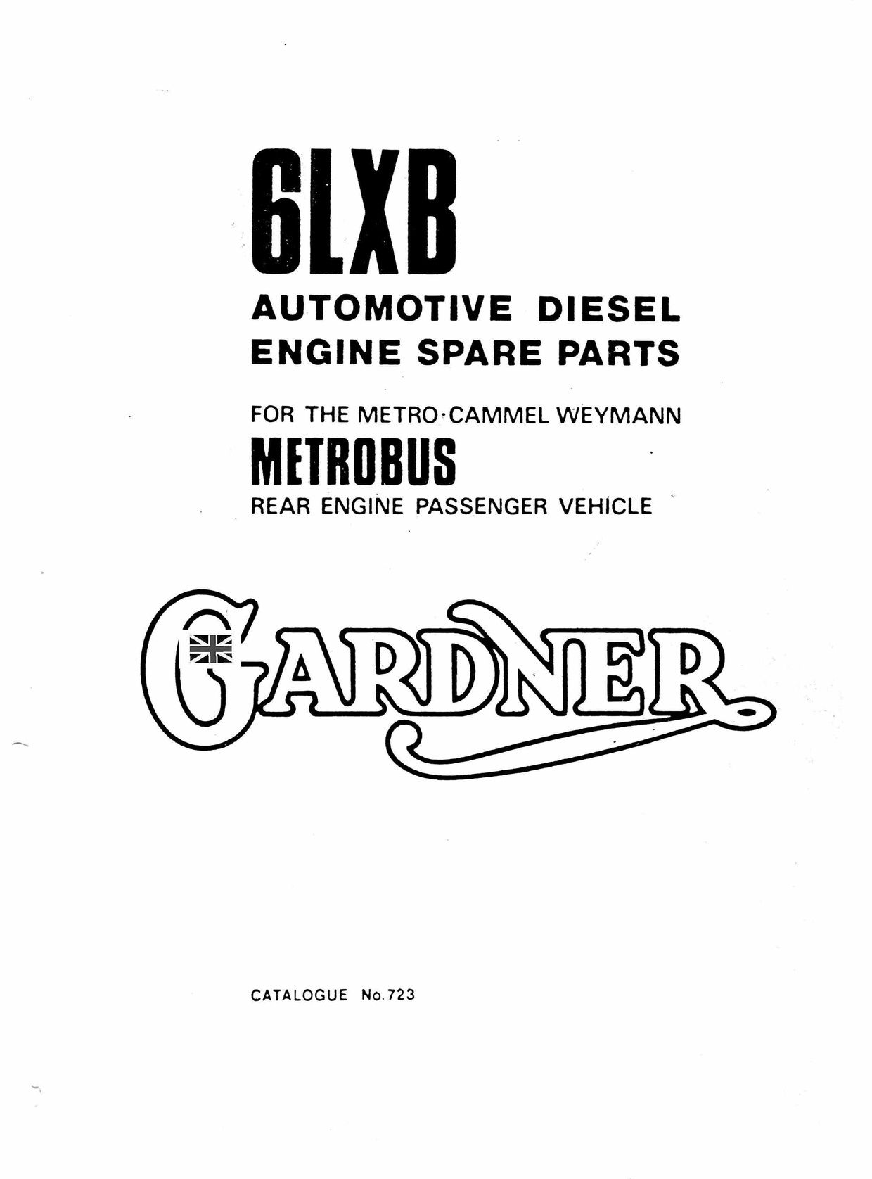 Gardener 6LXB Parts manual Gardener City Metrobus