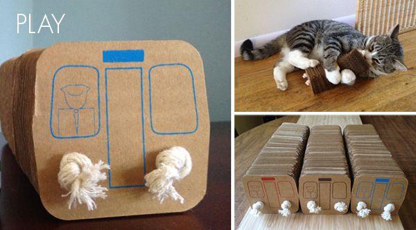 jouet pour chat en carton 20 animaux pratique. Black Bedroom Furniture Sets. Home Design Ideas