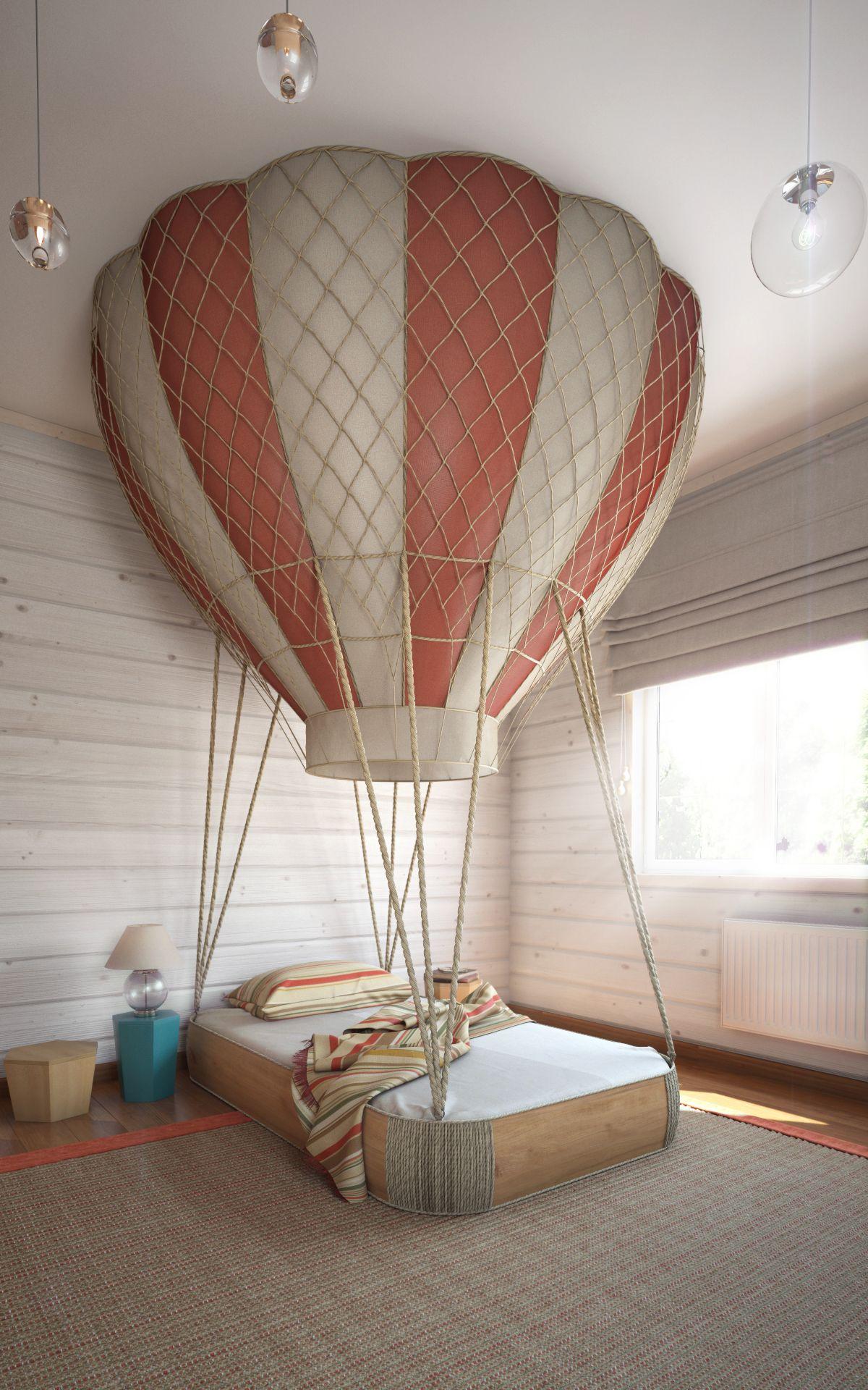 hot air balloon bed bedroom designed  anton saveliev