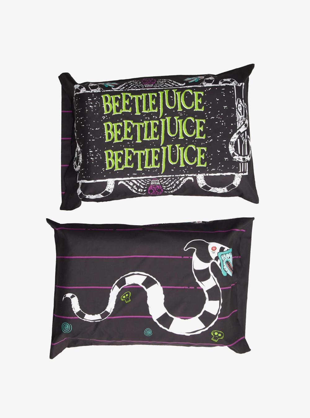 Beetlejuice Name & Sandworm Pillowcase Set