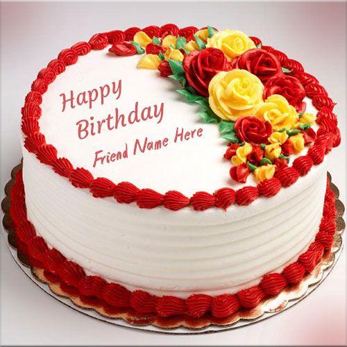 Amazing Write Name On Awesome Flower Birthday Cake Birthday Cake With Funny Birthday Cards Online Drosicarndamsfinfo