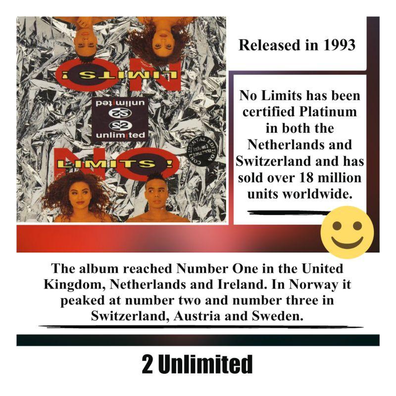 No Limits Album By 2 Unlimited 2unlimited Erodance Europop 90s 90smusic Dance Dancemusic Edm Pop Popmusic Song Music Musica Si