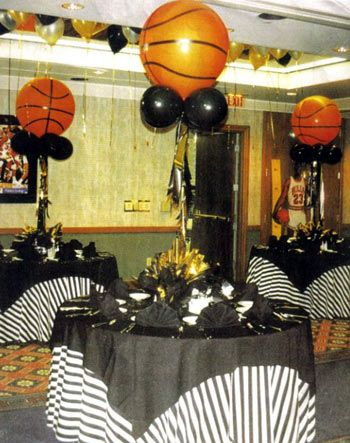 Best 25 sports banquet centerpieces ideas on pinterest for Athletic banquet decoration ideas