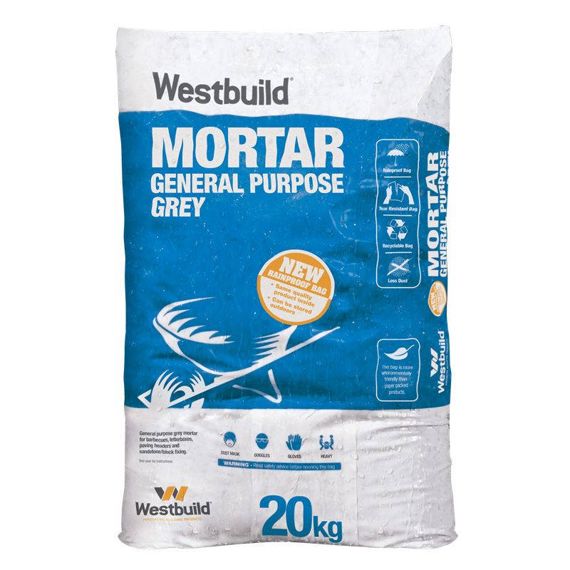 Find Westbuild 20kg Grey Mortar Dry Mix At Bunnings Warehouse Visit Your Local Store For The Widest Range Of Industrial Packaging Concrete Bags Packing Design