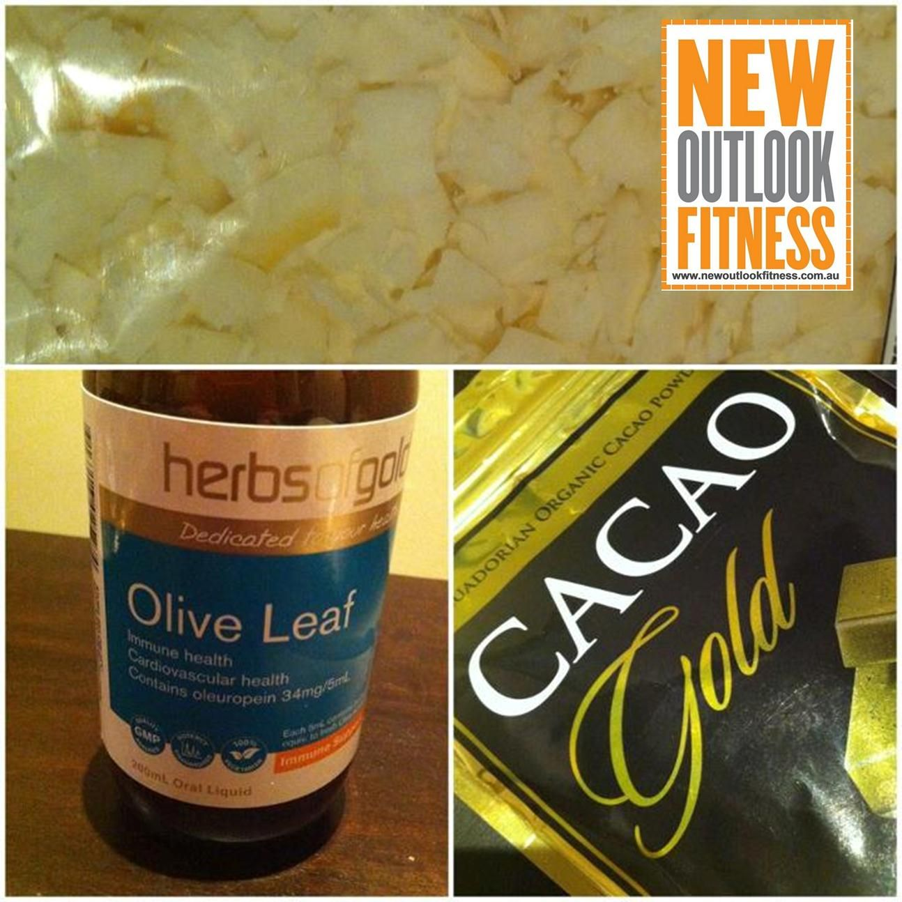Shopping Goodies! Coconut flakes (approved), Cacao (approved) and Olive leaf (approved & great for boosting immunity)