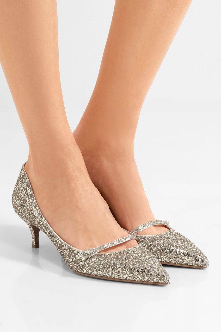 92709c1d2b93 Tabitha Simmons - Layton glittered leather pumps | Hello Lover ...