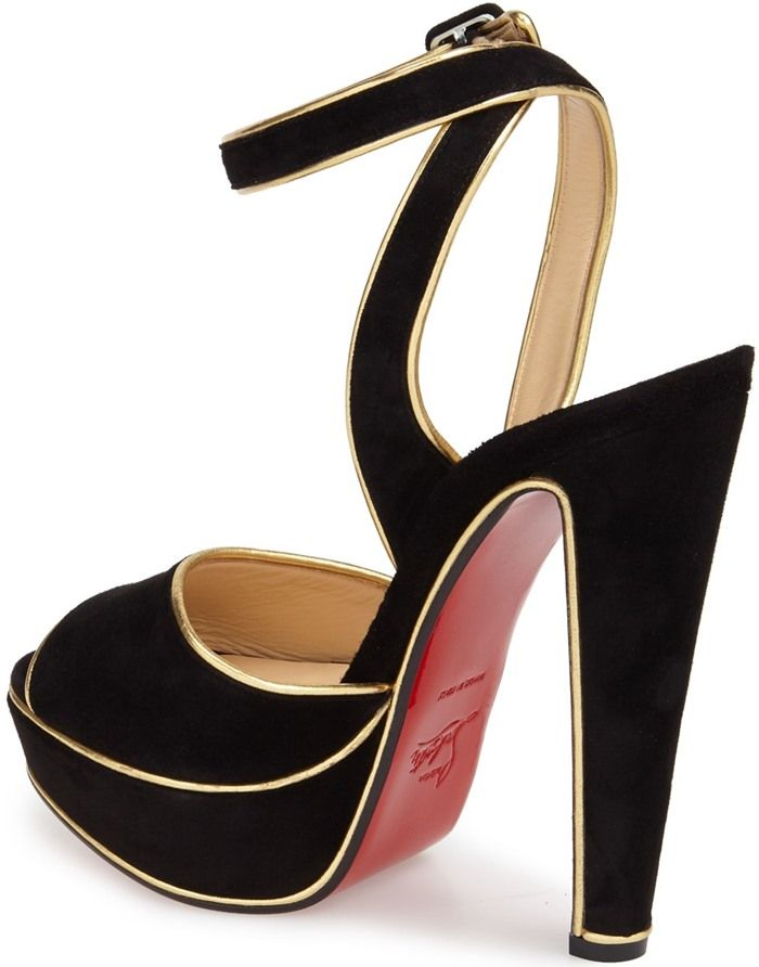 5c03b978805 Christian Louboutin  Louloudance  Suede Platform Red Sole Sandals ...