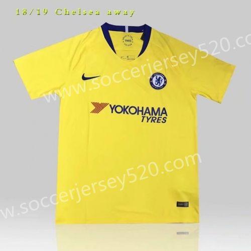 556a02e840b 2018 19 Chelsea Away Yellow Thailand Soccer Jersey AAA
