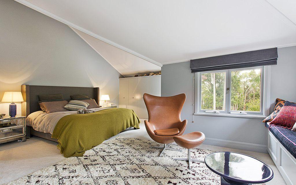 Schlafzimmer Mit Bett 180 X 200 Cm Massiv Kiefer Weiss Mit