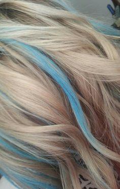 Image Result For Teal Highlights Blue Hair Highlights Blonde Hair With Blue Highlights Hair Highlights