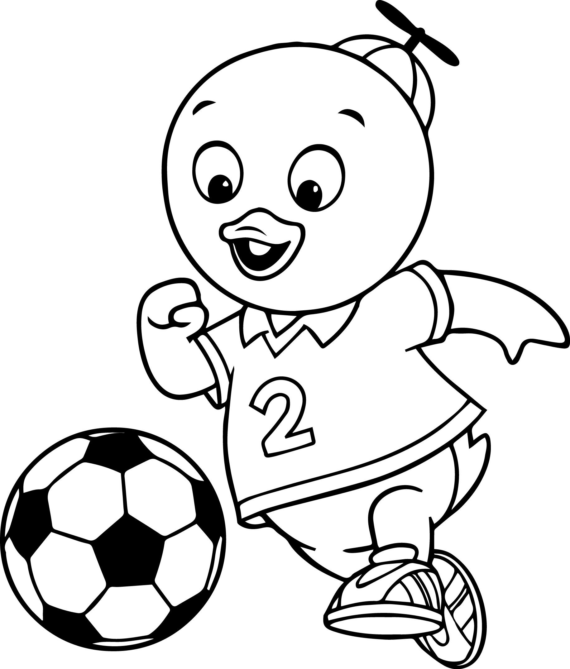 the backyardigans pablo playing soccer coloring page