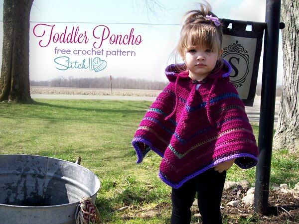 Toddler Hooded Poncho | Hooded poncho, Ponchos and Crochet