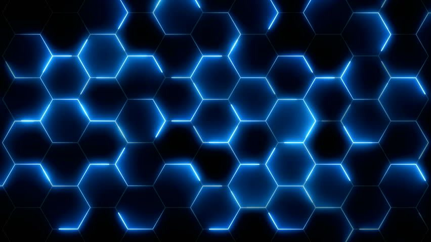 Pin On My Saves Blue and black hexagon wallpaper