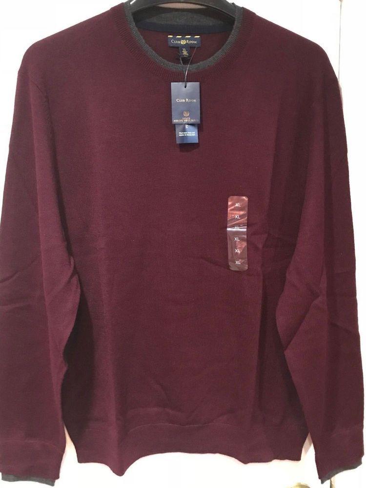 d701b261d6a4a Men s Winter Fall Church Work Business Day night Wool blend sweater size XL   85  DesignerClubRoom  PulloverSweater  Outdoor