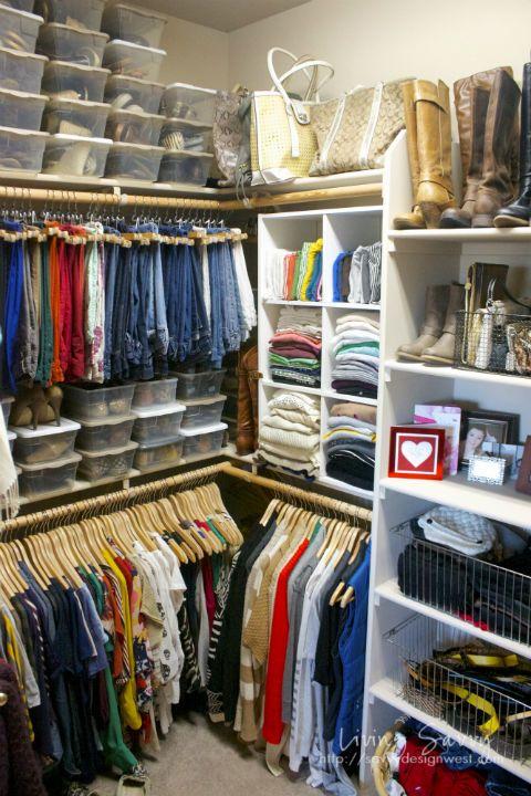 Organized Master Bedroom Closet From Living Savvy Closet