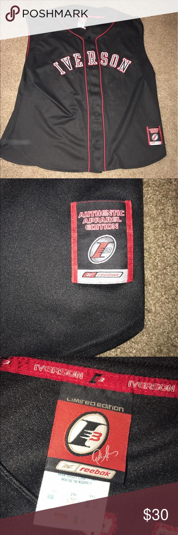 low priced 5b46d 85586 Allen iverson Reebok limited edition jersey Baseball jersey ...