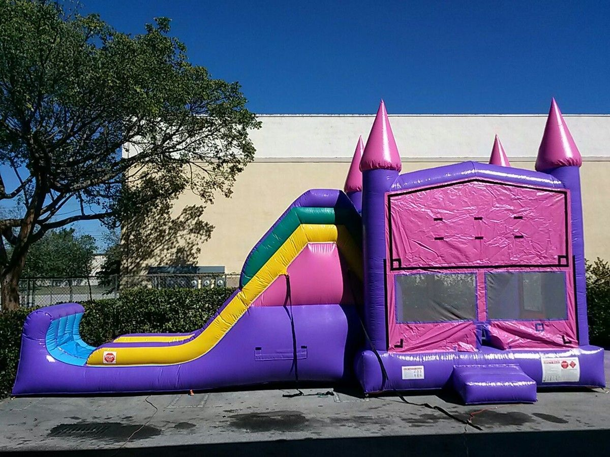 4 in 1 pink castle theme in 2020 pink castle bounce