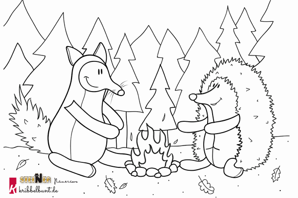 Ausmalbild Igel Und Fuchs Igel Ausmalbild Ausmalen Ausmalbild