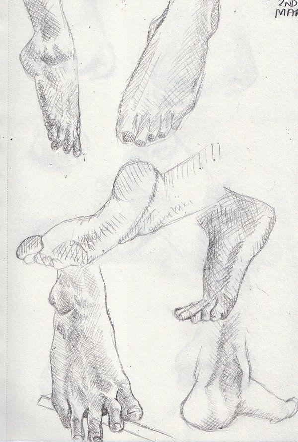 Foot examples Artwork by Khantinka