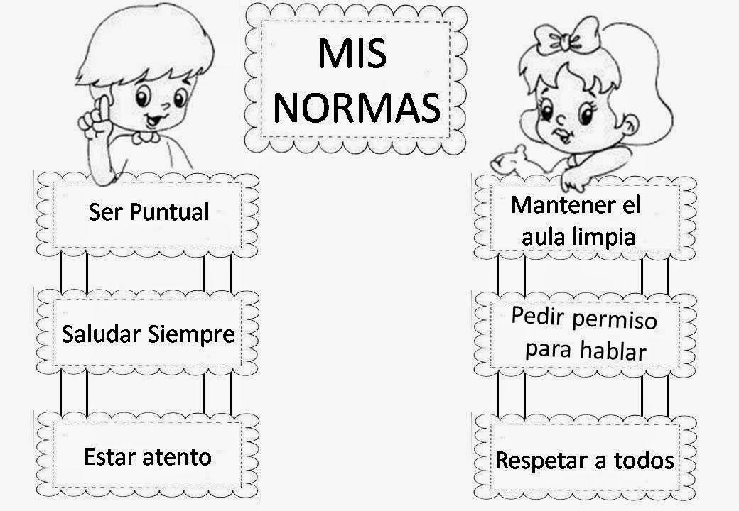 Dibujas Para Colorear Las Reglas Del Salon Spanish Teaching Resources Classroom Rules Classroom
