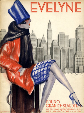 """Cover Sheet Music by Willy Herzig, 1928, """"Evelyne"""". (G)"""