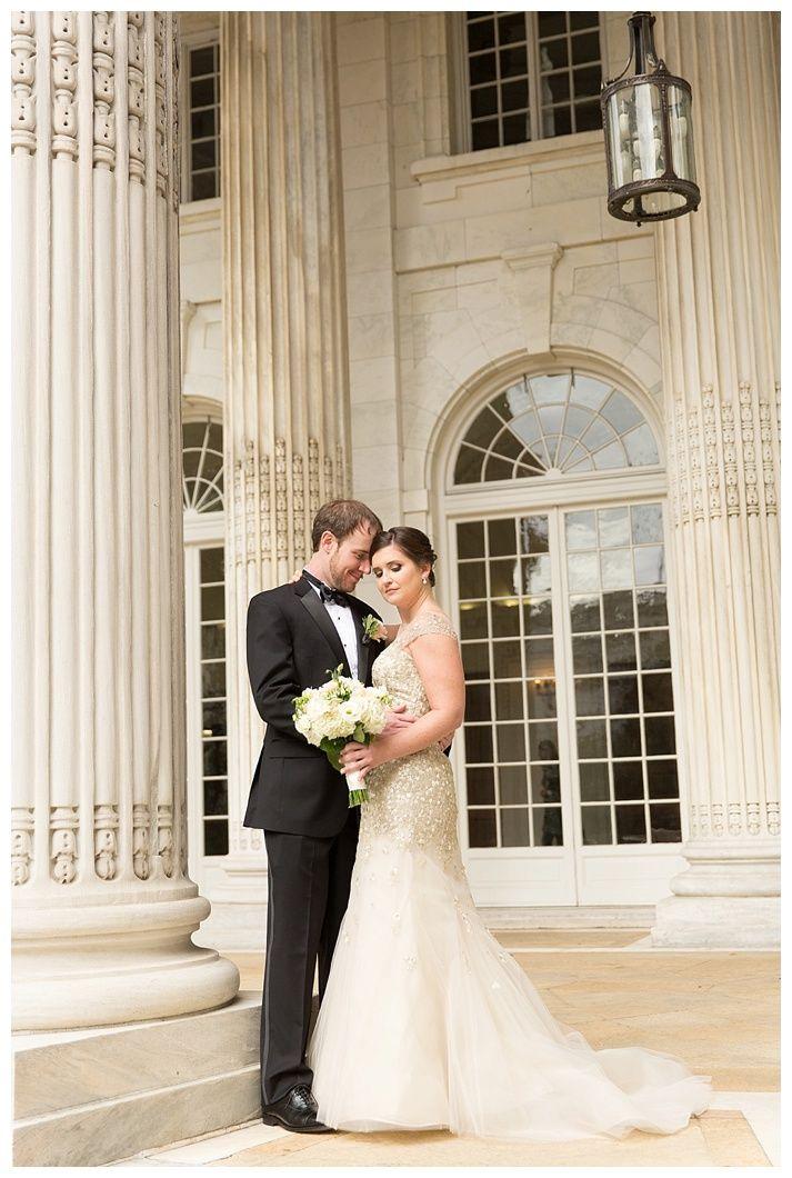 Gold Liancarlo Wedding Gown Navy DAR