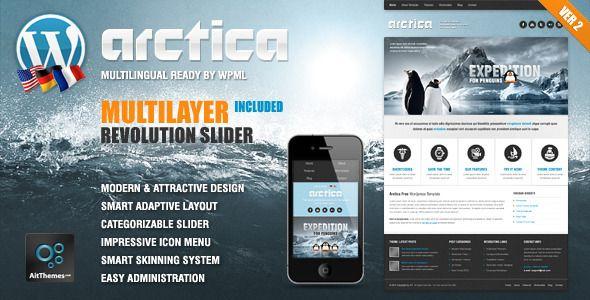 Arctica Responsive Wordpress Theme - Travel Retail | Wordpress ...
