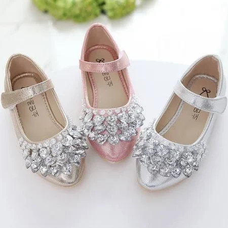 GIRLS SUMMER SANDALS NEW KIDS INFANTS BRIDESMAID DRESS PARTY EVENING SHOES SIZE