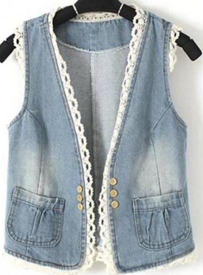 Bayan Yelek Modelleri Elbise Modelleri Ve Fiyatlari Knitcrochet Bayan Yelek Modelleri Elbise Modelleri Ve Fiyatl In 2020 Denim And Lace Womens Vest Knitting Women