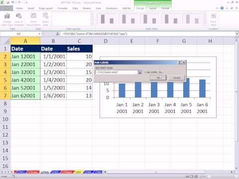 Excel Magic Trick 742 Wrap Text In Chart Label Using CHAR function