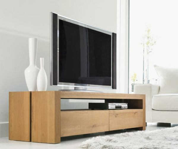 inspirant meuble tele bois design Décoration française Pinterest