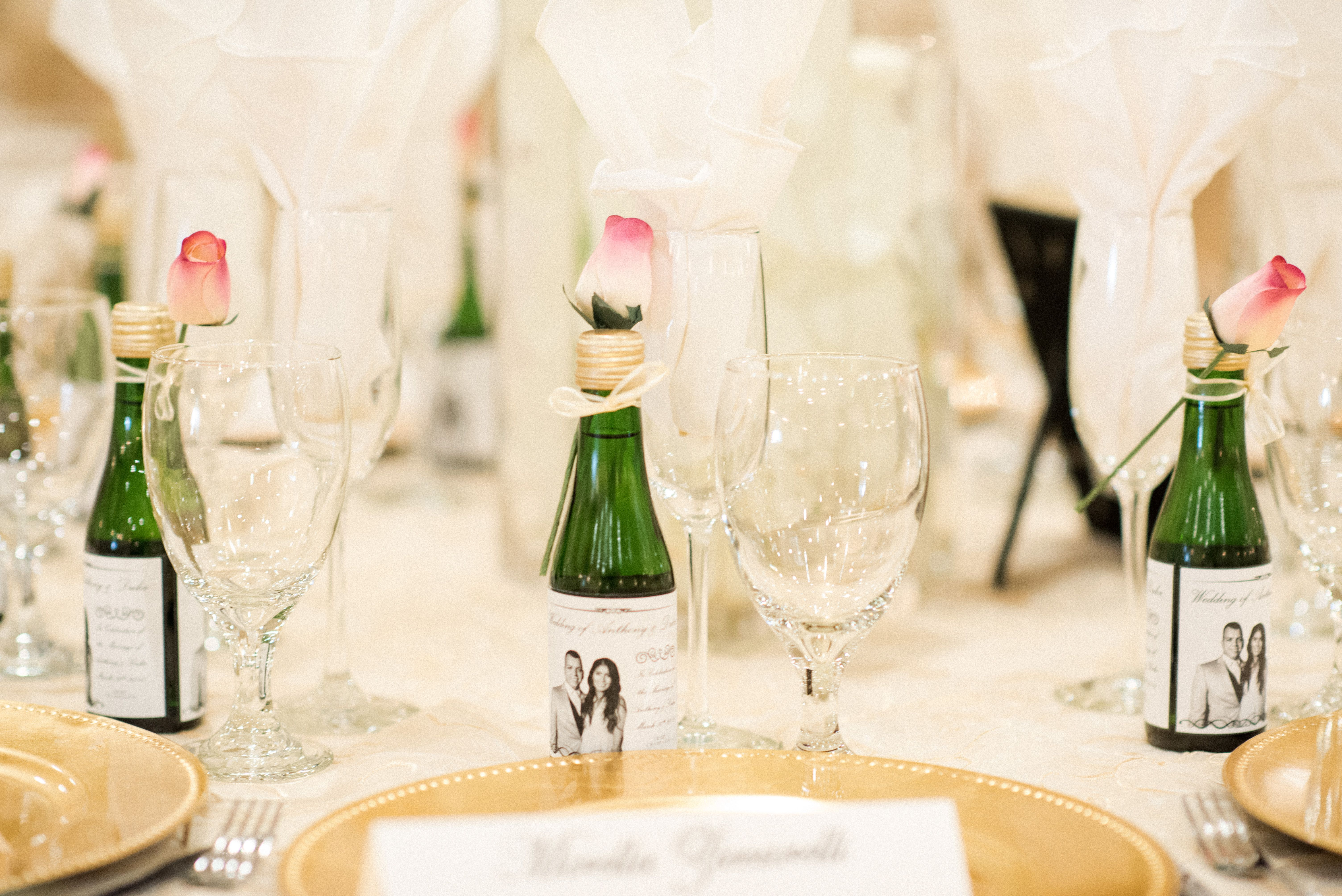 Mini champagne bottles as party favors | Arizona Wedding ...
