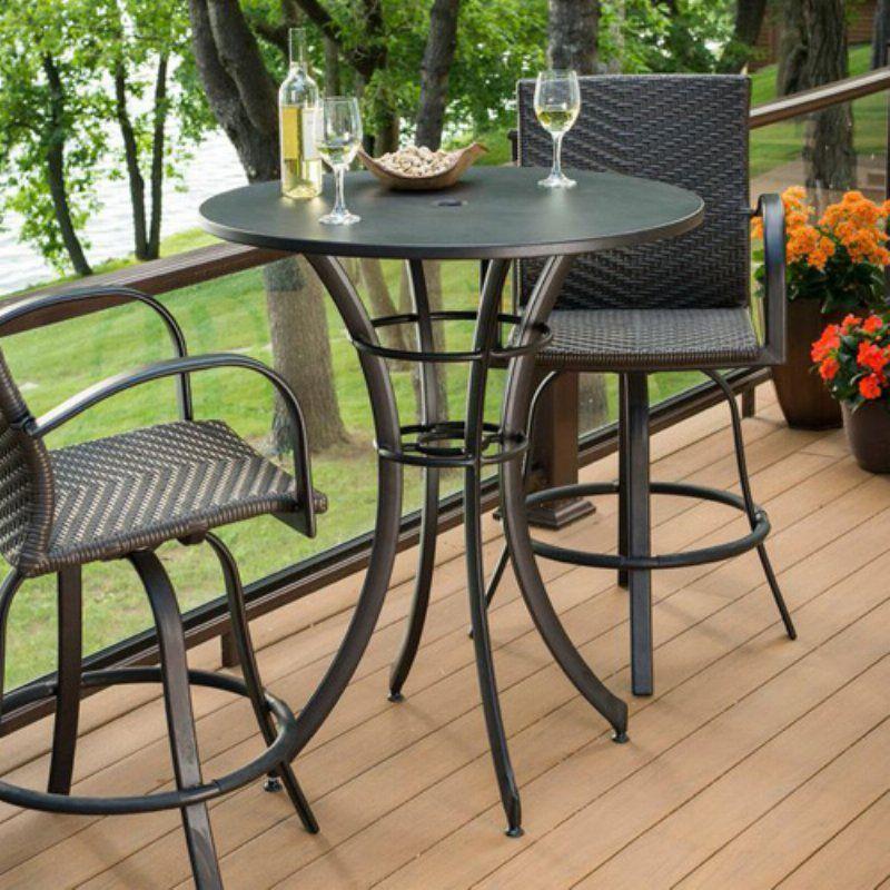 Superbe Outdoor GreatRoom Empire Round Pub Patio Table   EMP PUB RD K