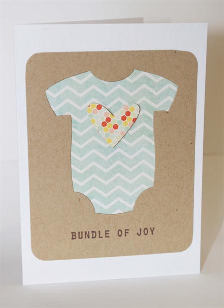 baby boy newborn card cute onesie  cards handmade