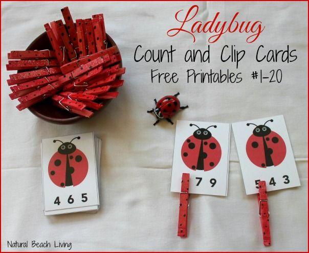Ladybug Math for Preschoolers Free Printables Count