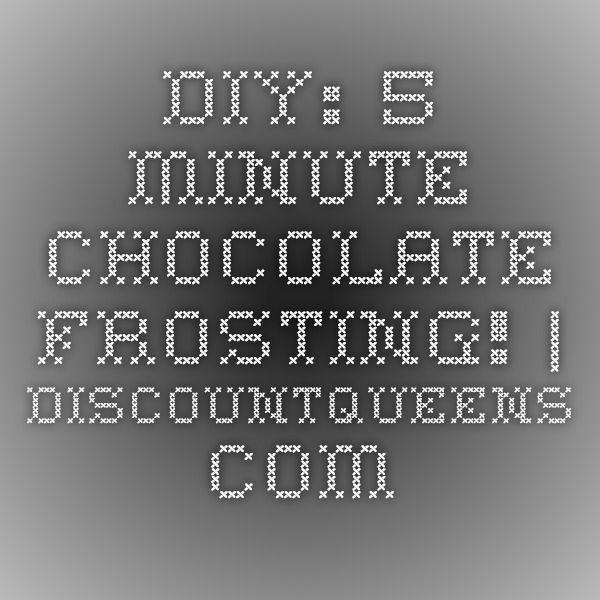 DIY: 5 Minute Chocolate Frosting! | DiscountQueens.com
