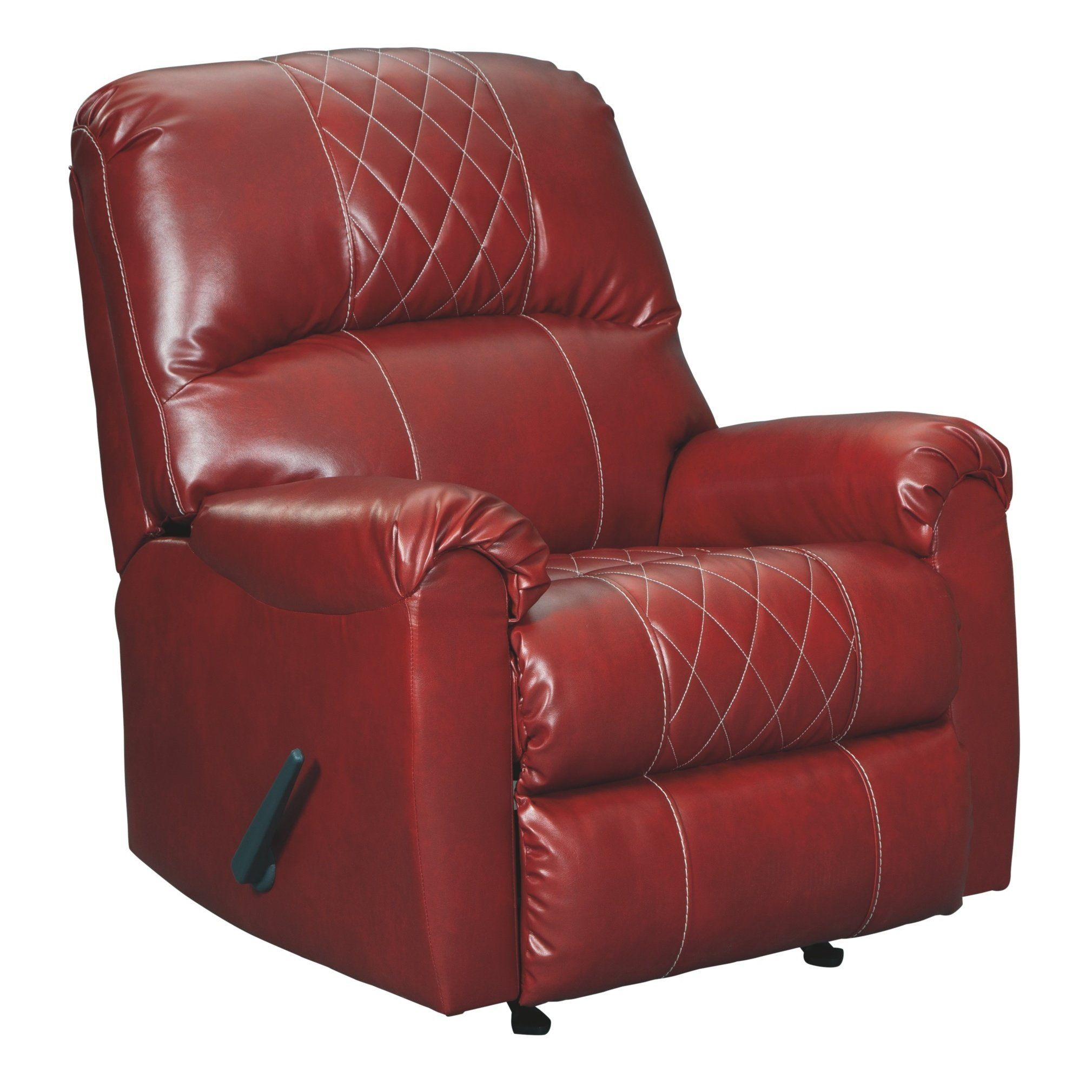 Best Signature Design By Ashley Betrillo Salsa Red Faux Leather Recliner Polyester Blend In 2019 400 x 300