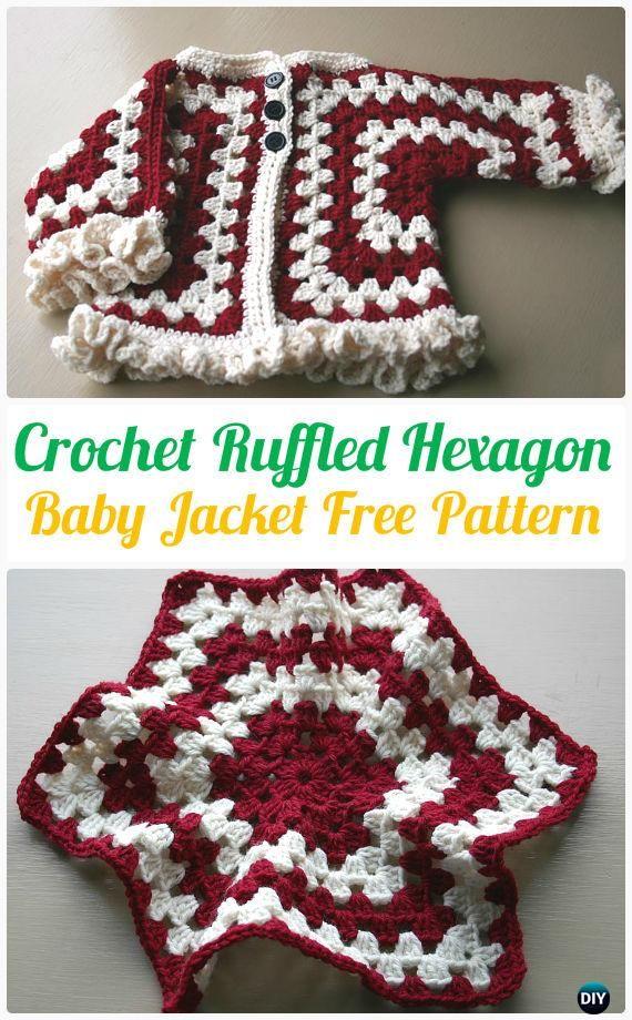 Chaqueta de ganchillo bebé rizó el Hexágono patrón de la chaqueta de ...