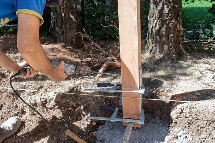 Sichtschutz aus Holz selber bauen Sichtschutz garten