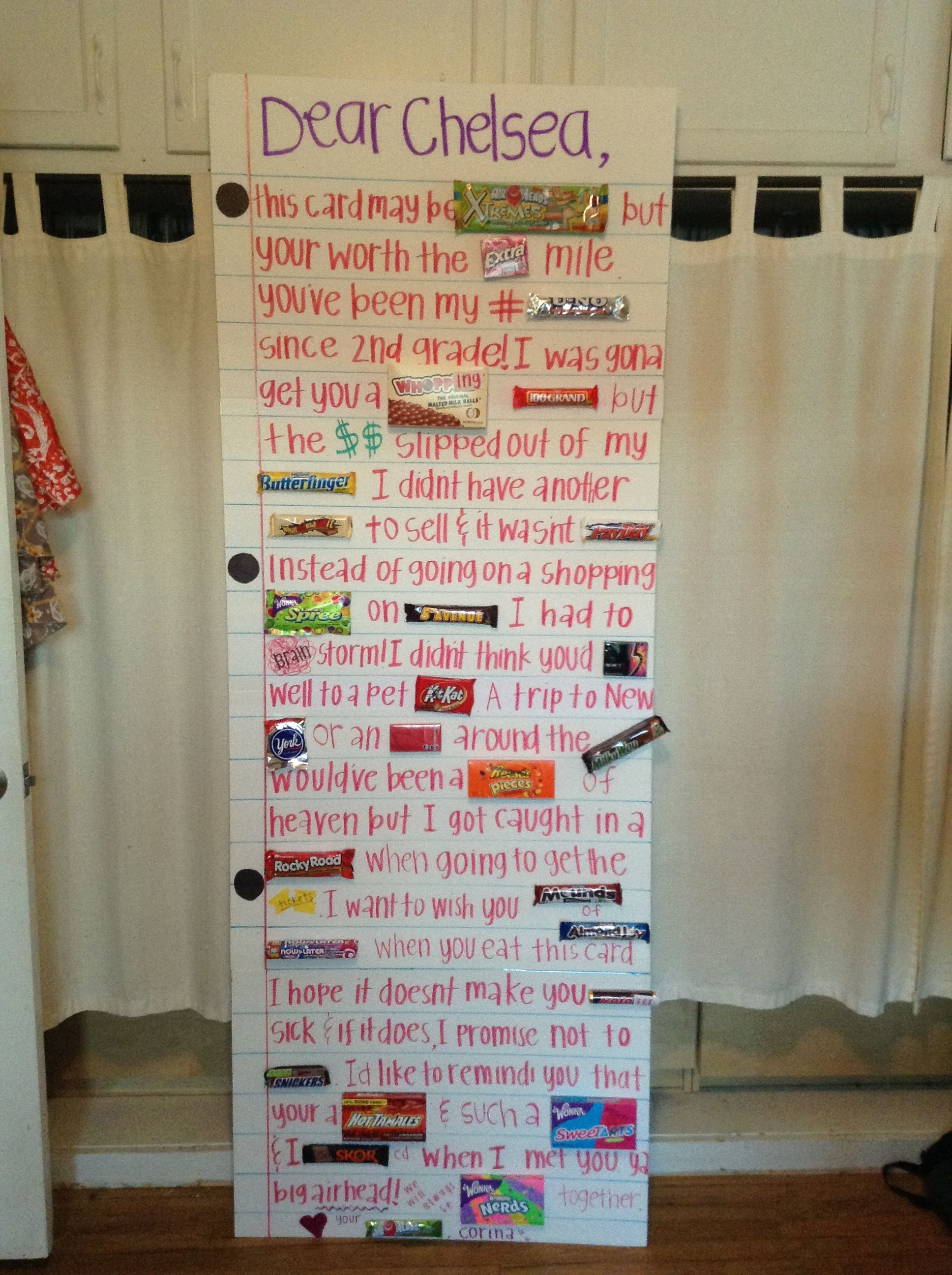 DIY Giant Card With Candies Birthday