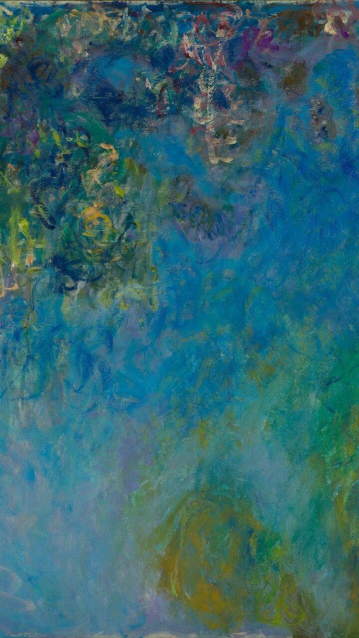 莫奈名画紫藤(19171920) Mural wallpaper, Painting wallpaper